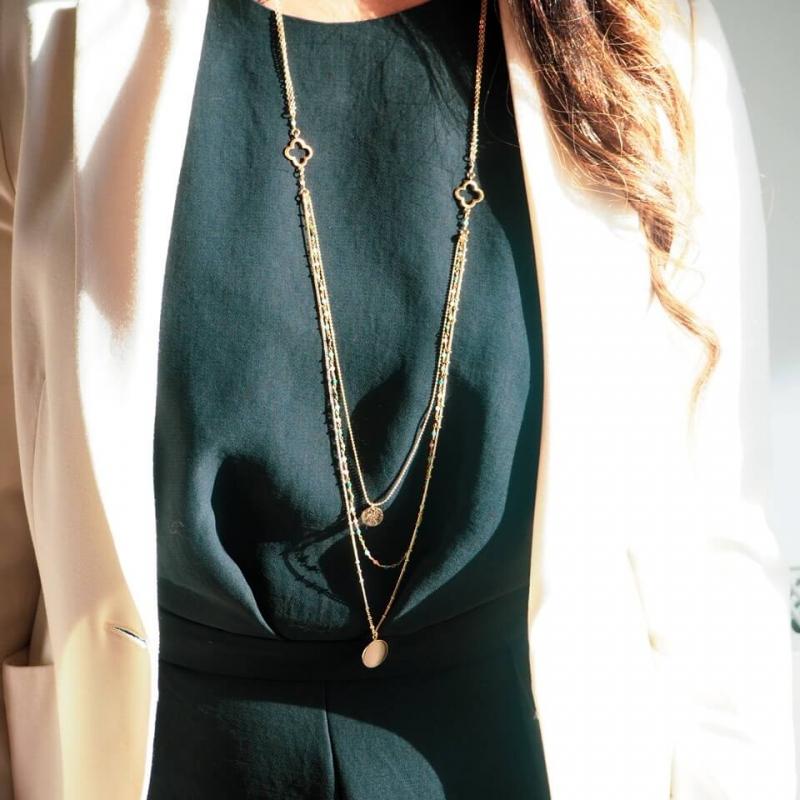 Inde gold long necklace -...