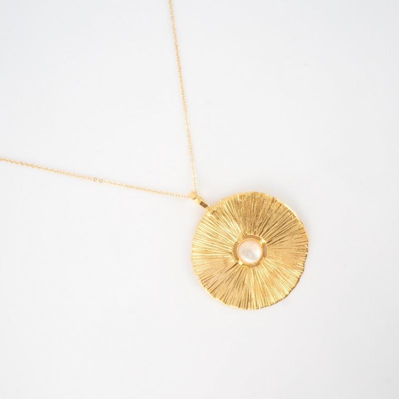 Rita gold long necklace -...