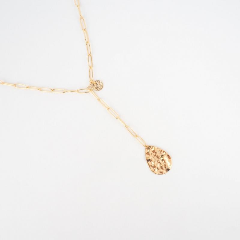 Carla gold long necklace -...