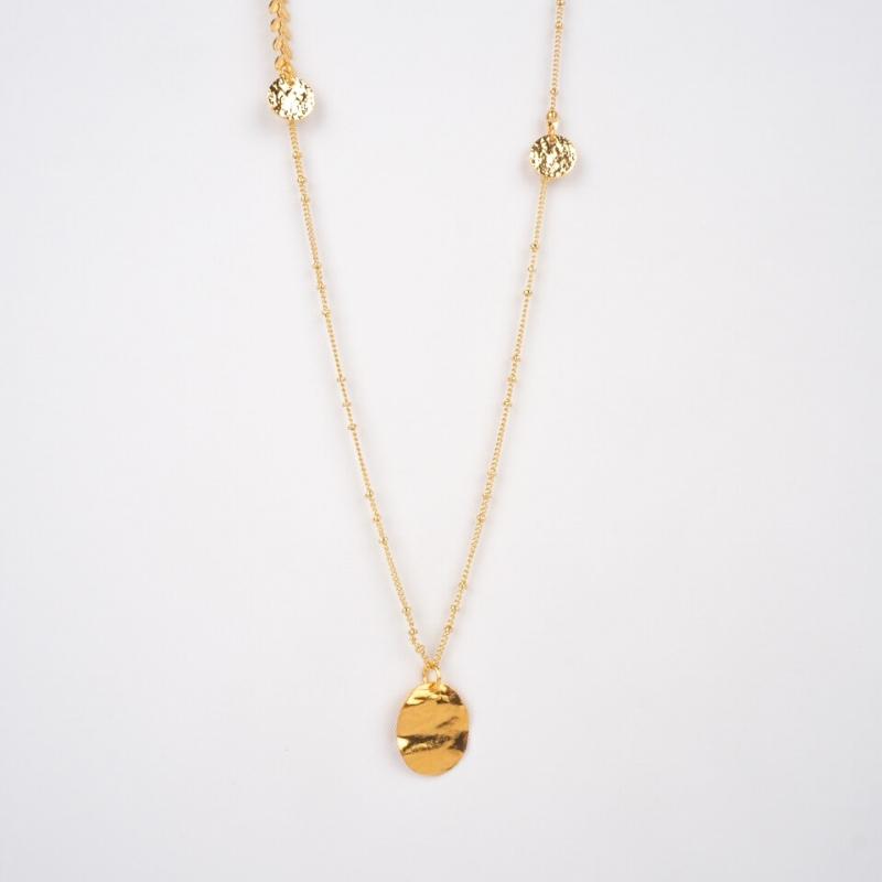 Epic gold long necklace -...