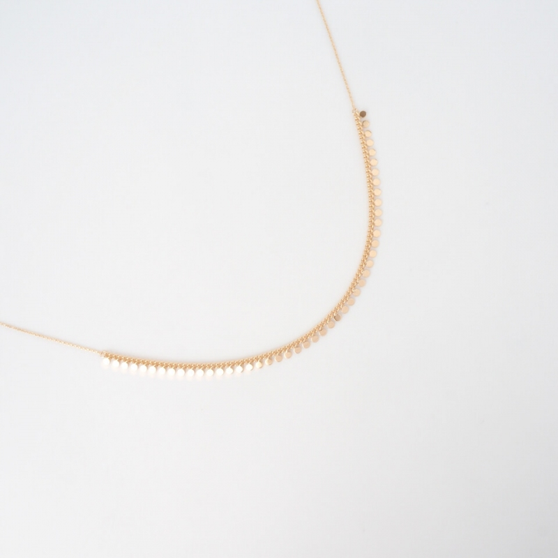 Angelina gold necklace -...