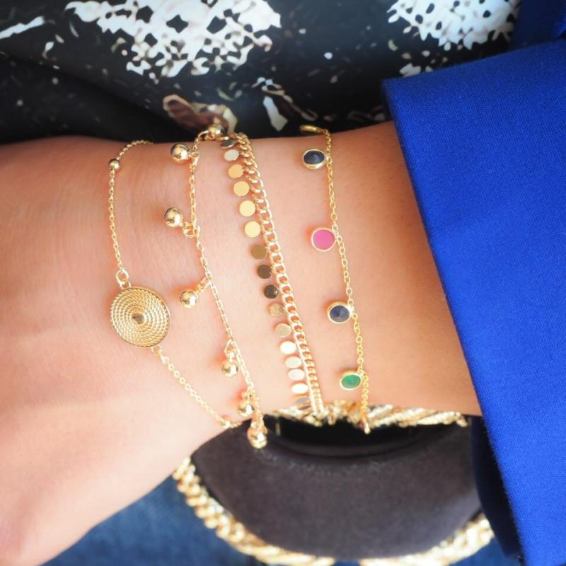 Bracelet Boule plaqué or -...