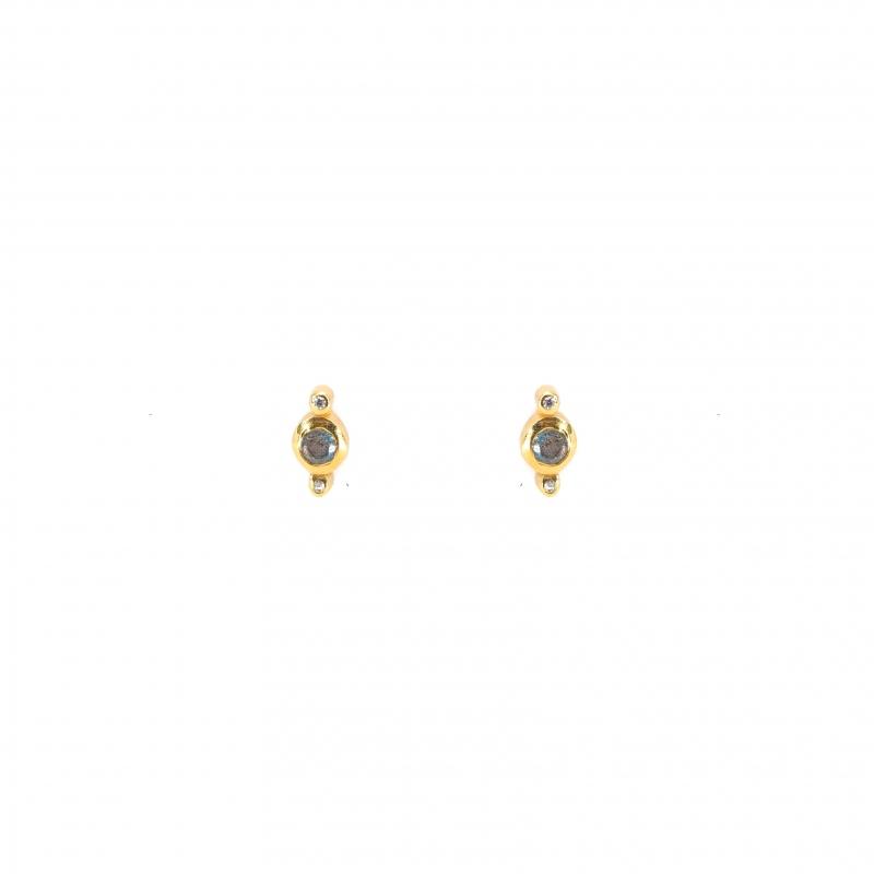 Precious labradorite gold earrings - LuckyTeam