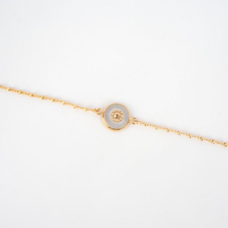 Bracelet Lilas plaqué or -...