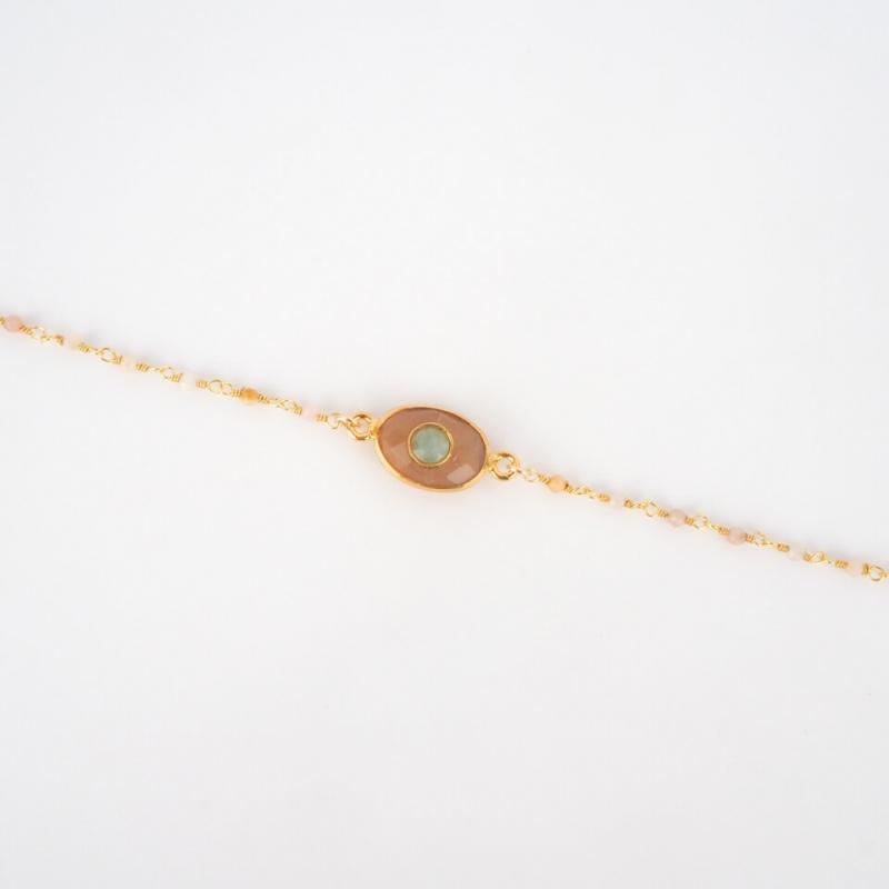 Bracelet Radjah plaqué or -...