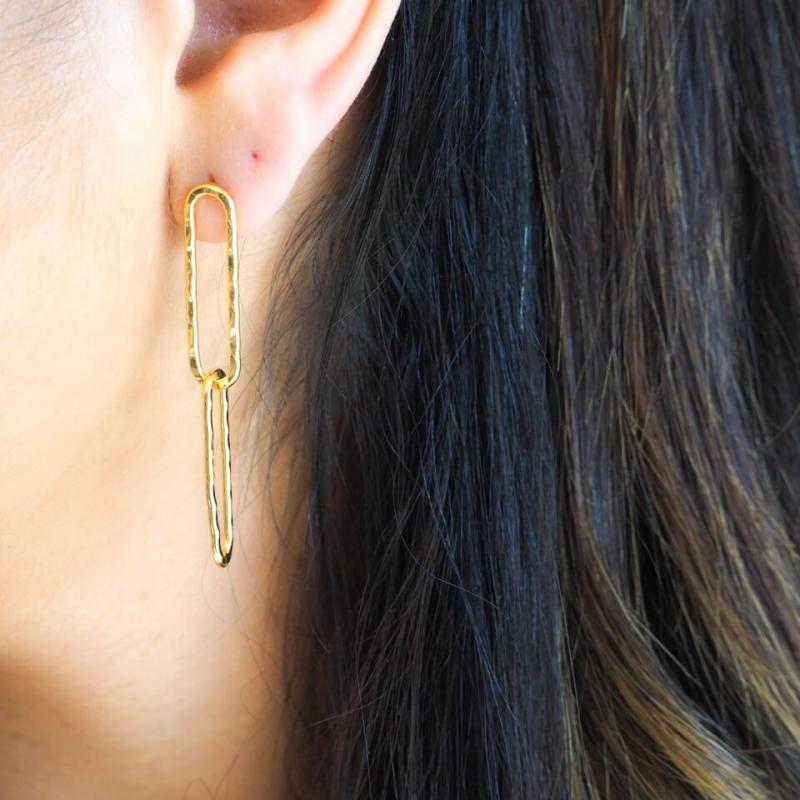 Gaby gold earrings - By164...
