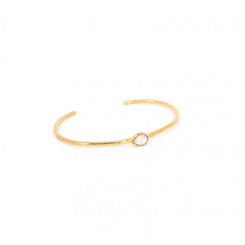 Bracelet jonc goutte précieuse et opale - Lucky Team