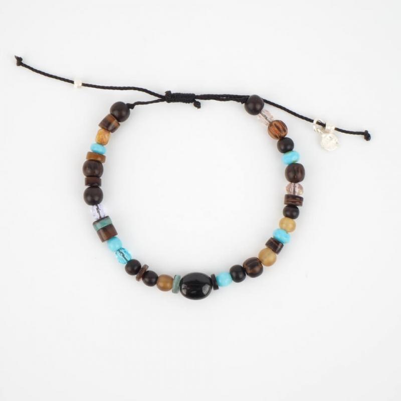 Marlon silver cord bracelet...