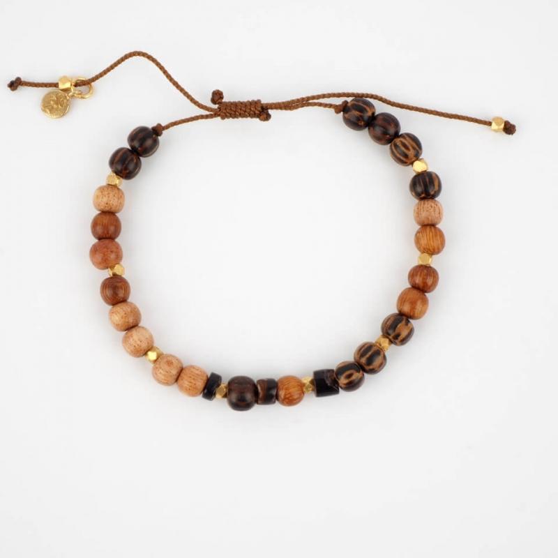 Luigi gold cord bracelet -...