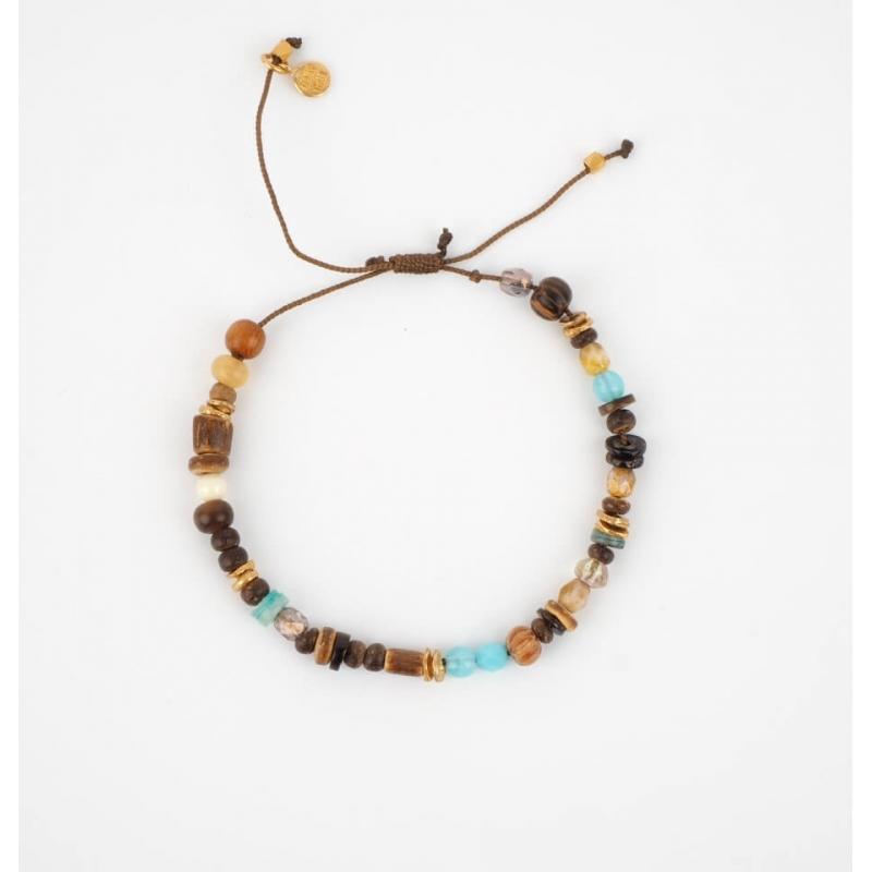 Maylon gold cord bracelet -...