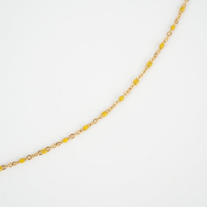 Collier Houston jaune en...