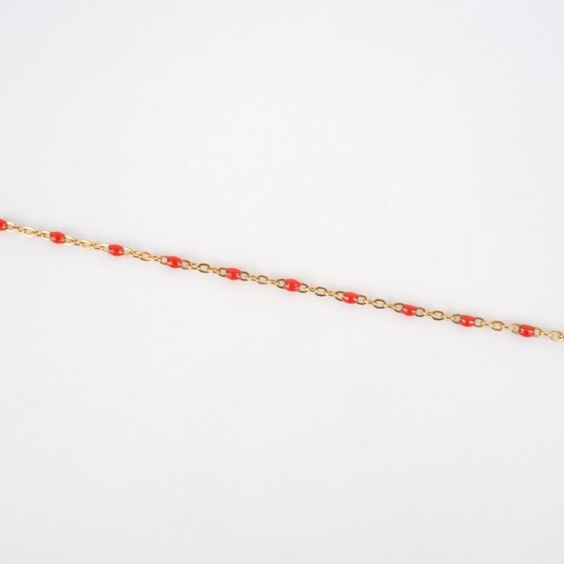 Bracelet Houston rouge en...