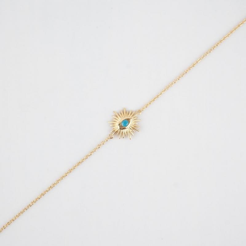Bracelet Sun bleu en plaqué...
