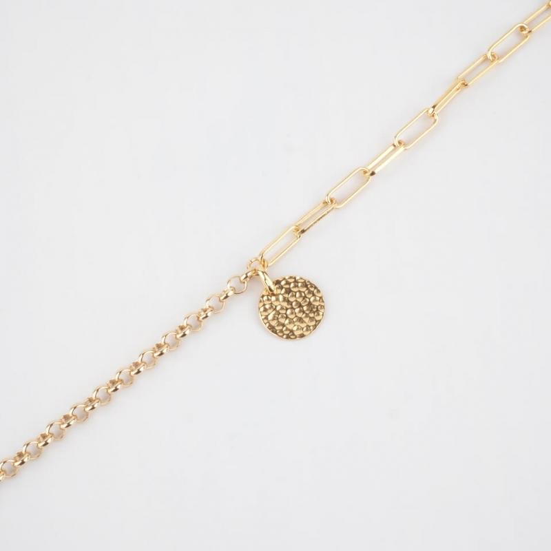 Bracelet Lily en plaqué or...