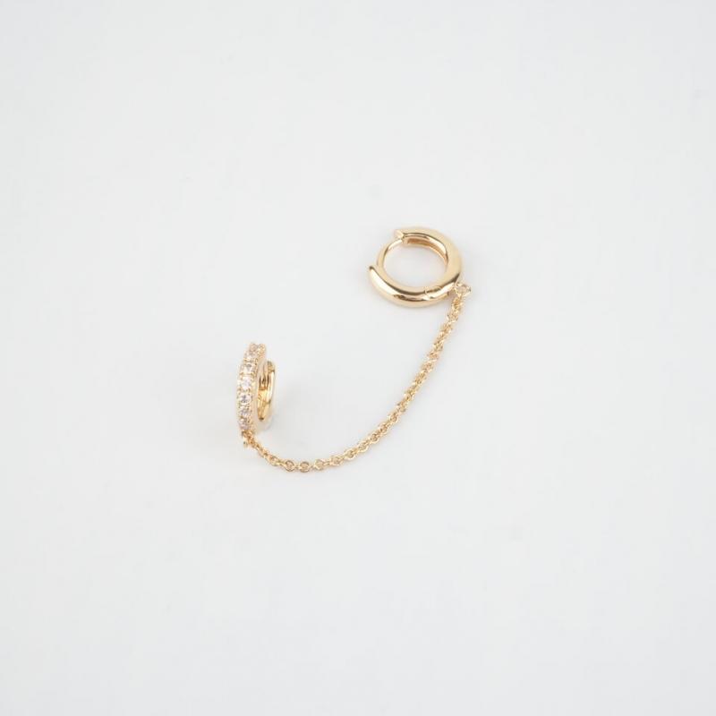 June gold hoops earrings -...