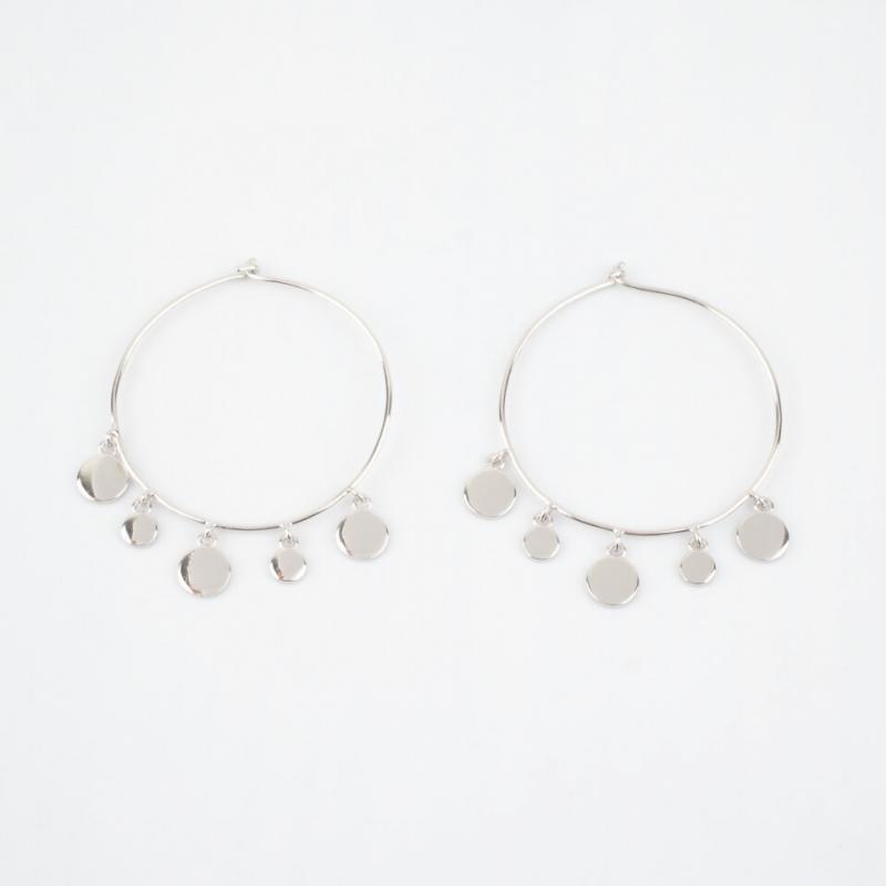Lyna silver hoops earrings...