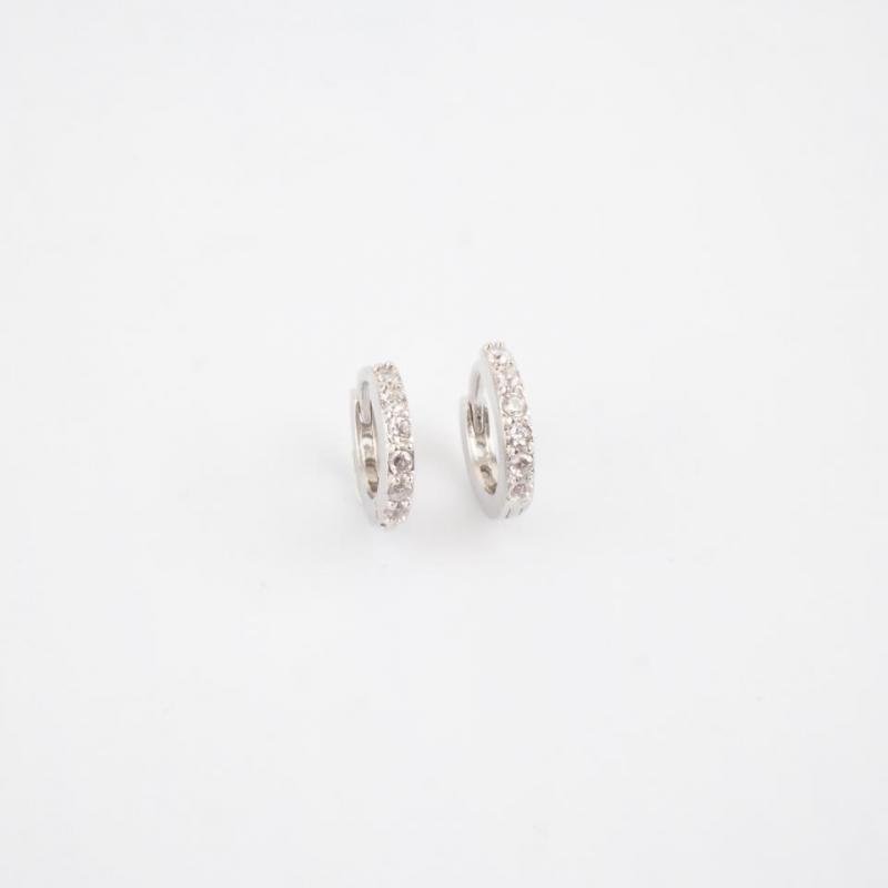 Jade silver hoops earrings...