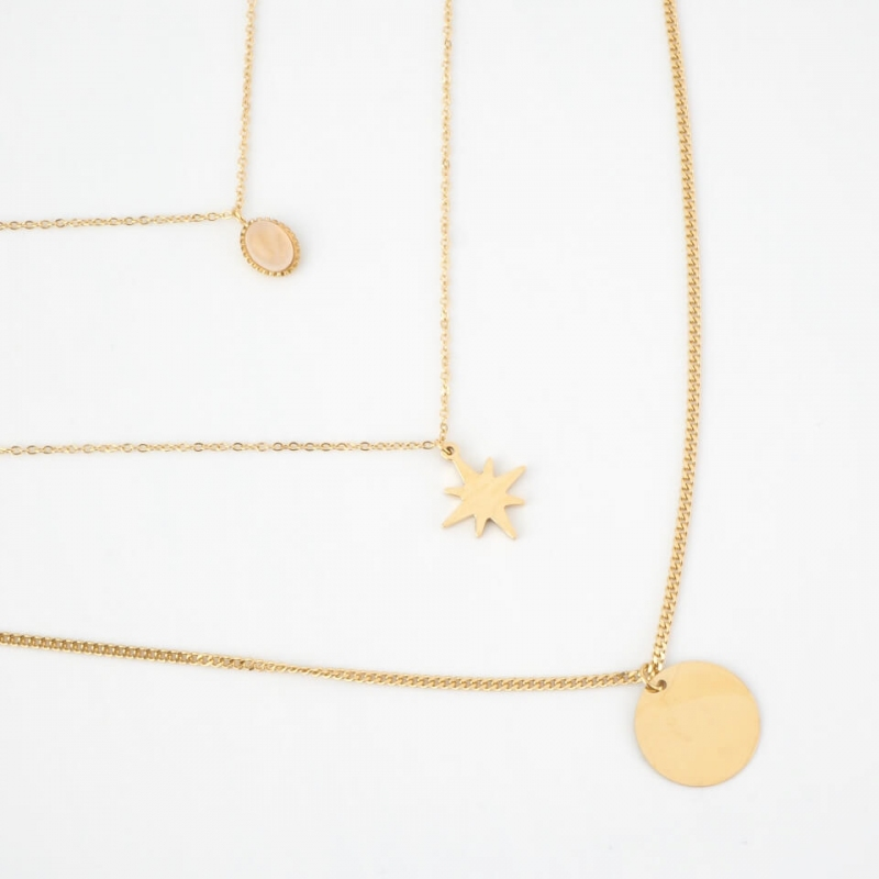 Marley gold necklace -...