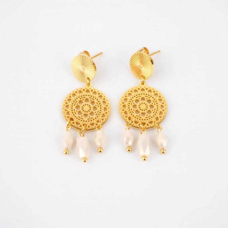 Thelma gold earrings -...
