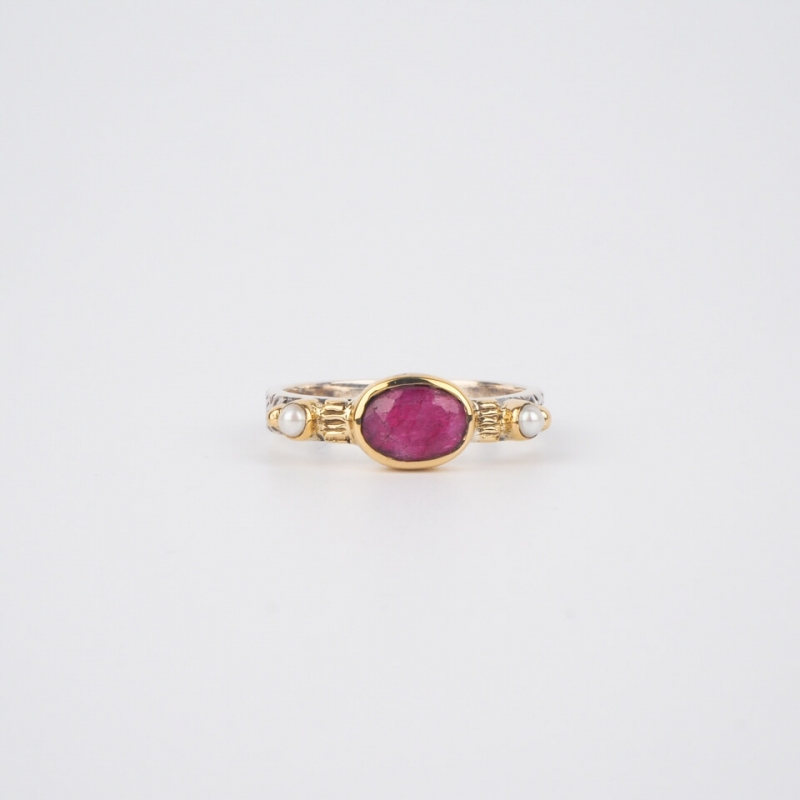 Ethnic chic Indian ruby...