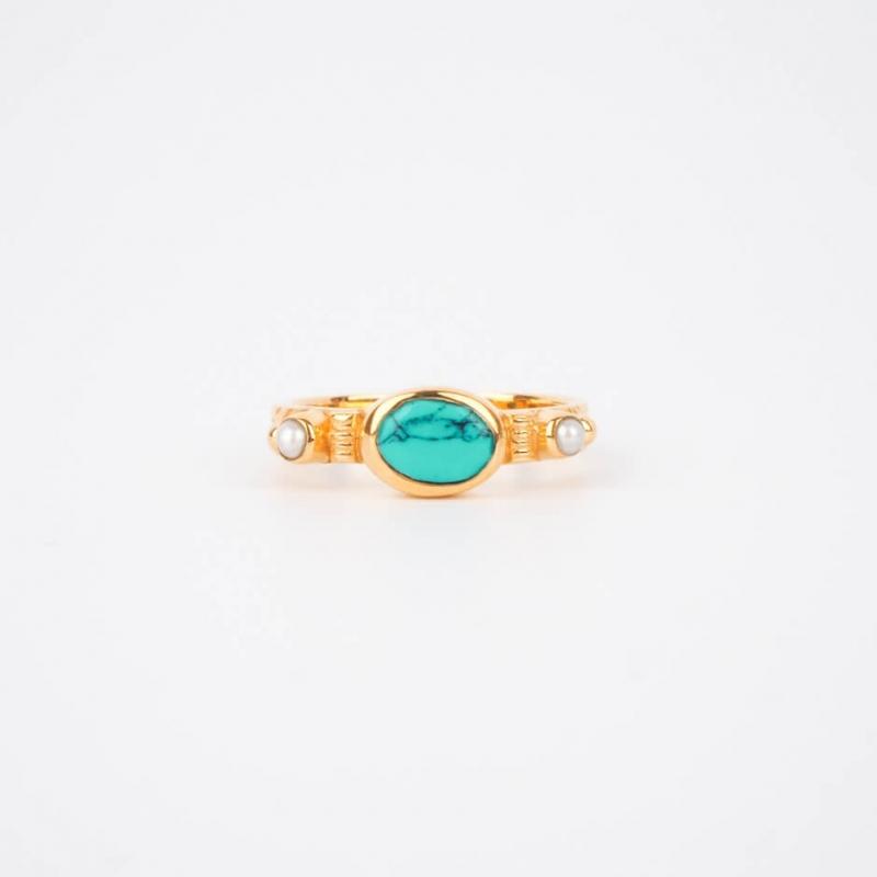 Turquoise chic ethnic ring...