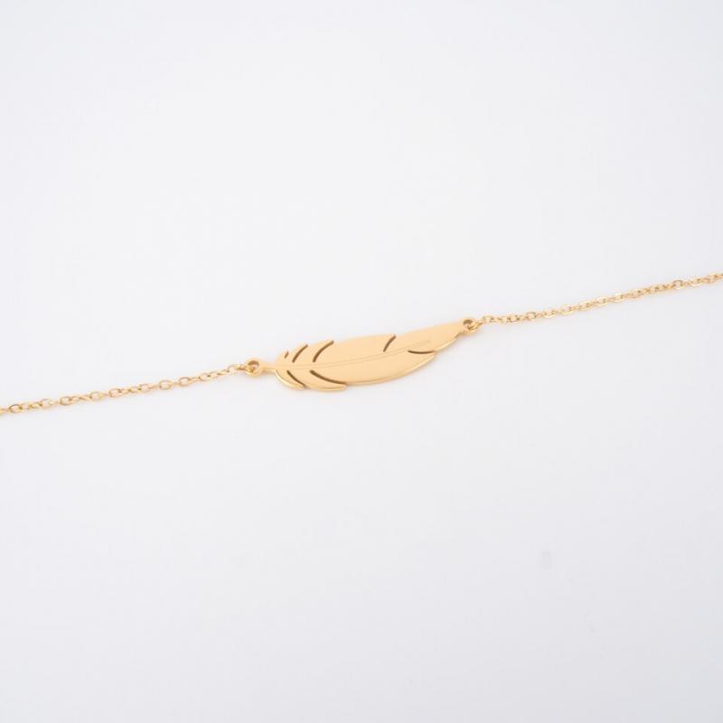Feather gold bracelet - Zag...