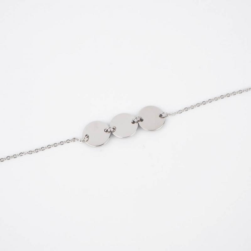Pastilles silver bracelet -...