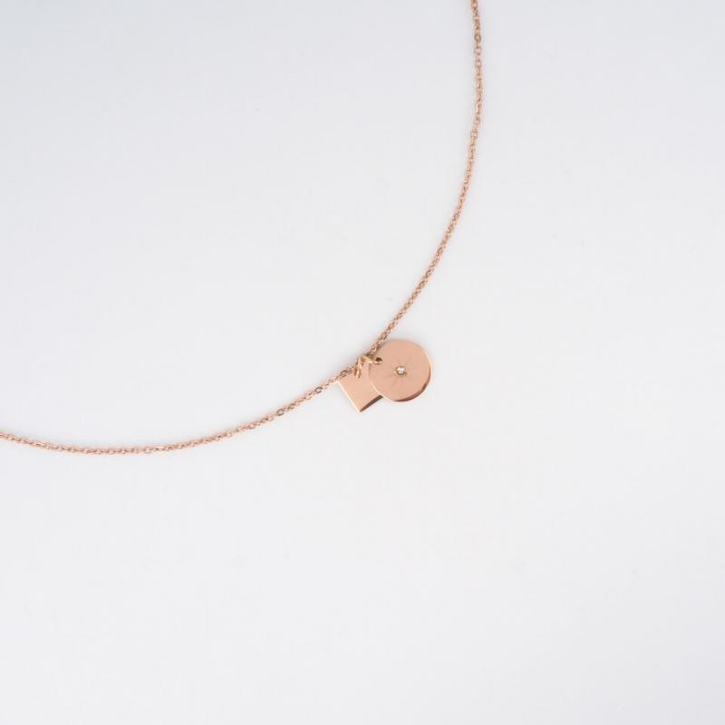 Star rose gold necklace - Zag Bijoux