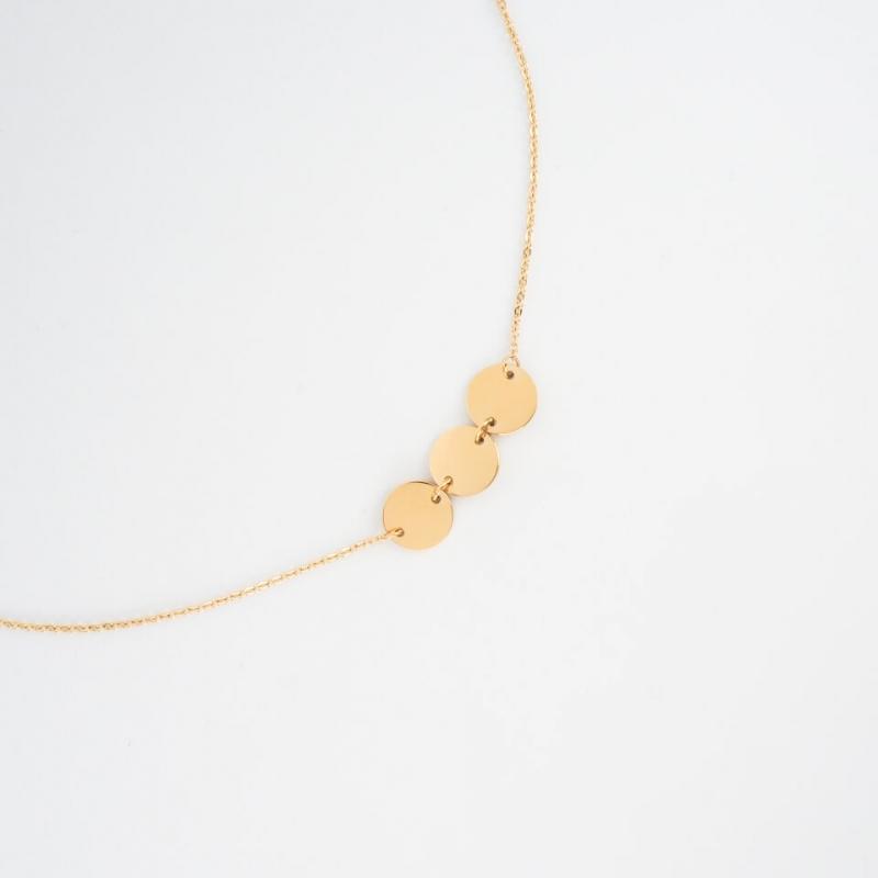 Pastilles gold necklace -...