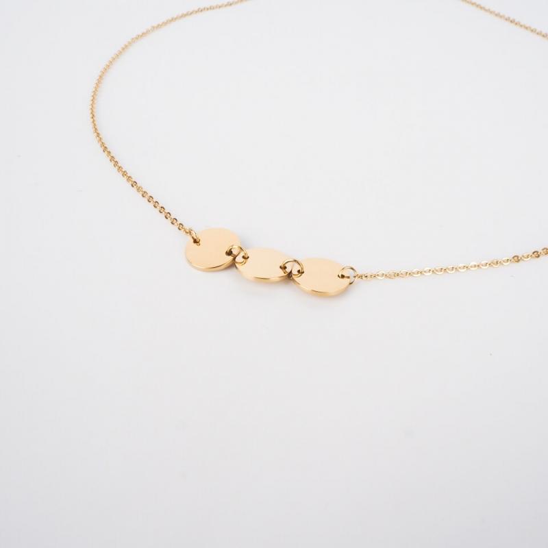 Pastilles gold necklace - Zag Bijoux