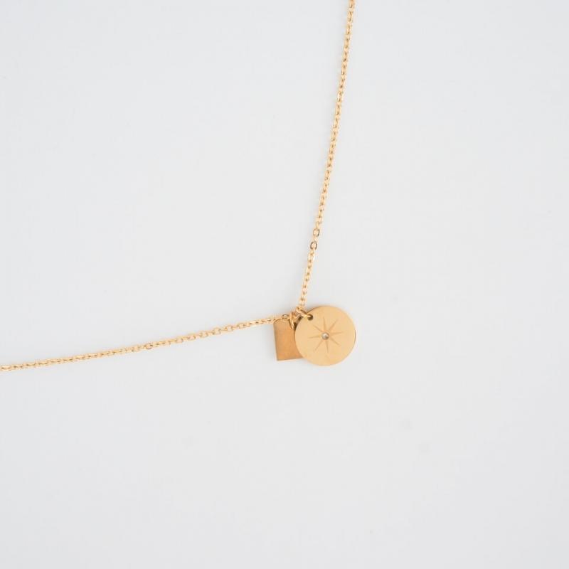 Star gold necklace - Zag...