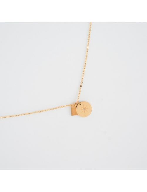 Star gold necklace - Zag Bijoux