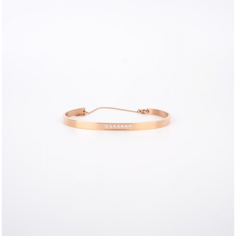 Sparkle chained rose gold...
