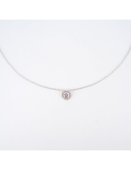 Classico round silver necklace - Pomme Cannelle