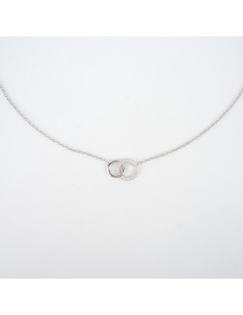 Linked silver rings necklace - Pomme Cannelle