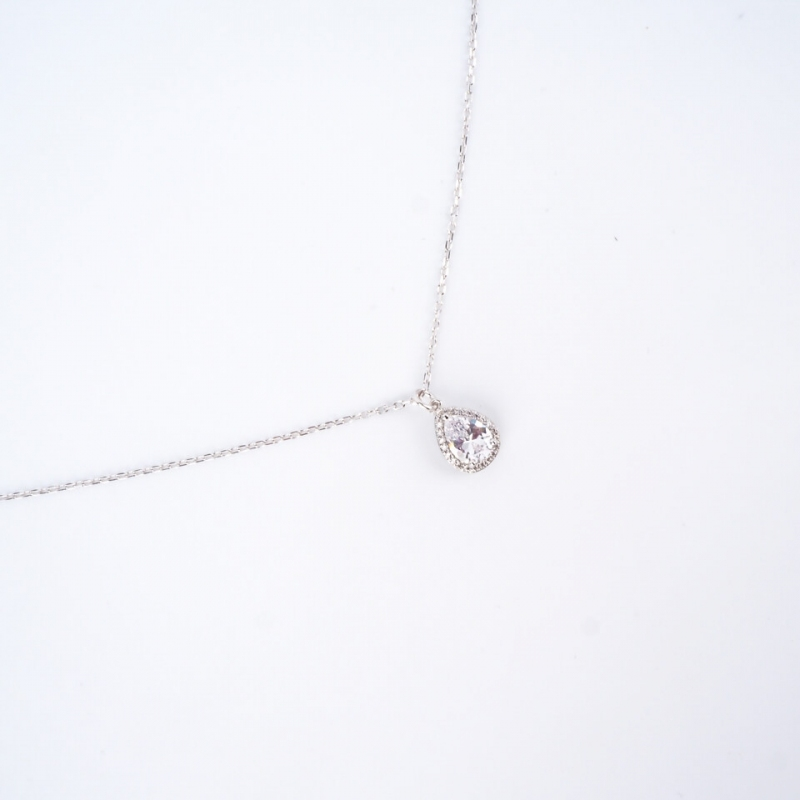 Classico drop silver necklace - Pomme Cannelle