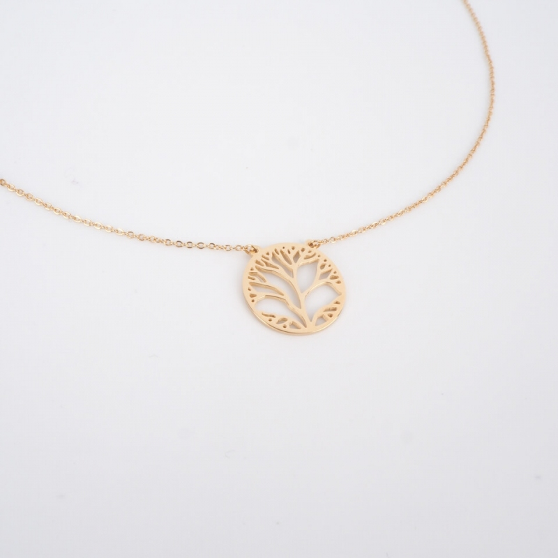 Tree of life gold necklace...