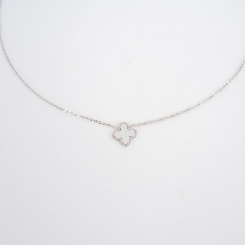 Mini pearly clover silver...