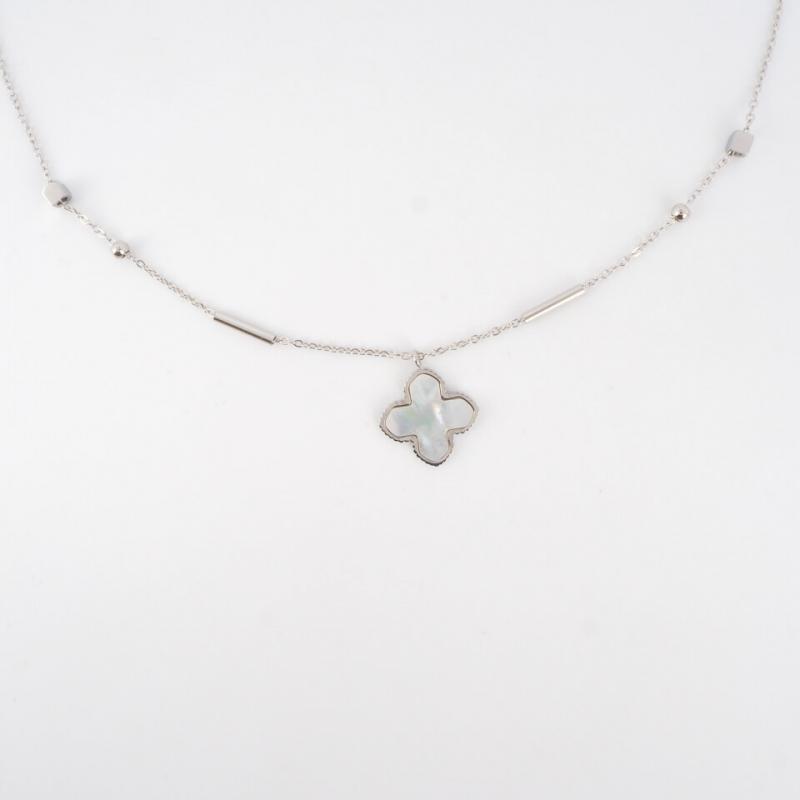 Bonnie XL silver long necklace - Zag Bijoux
