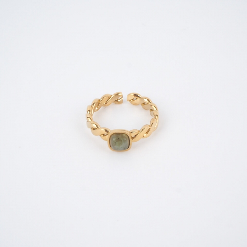 Square stone ring...