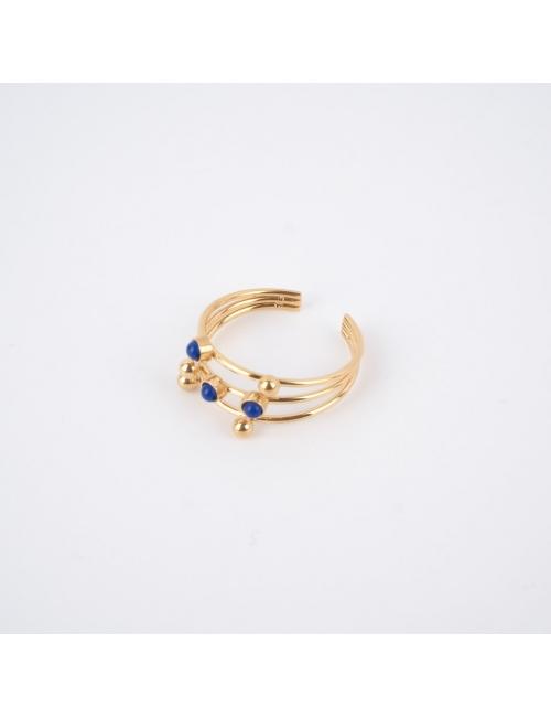 Bague stone lapis lazuli en...