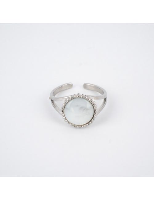 Pearl pastille silver ring - Zag Bijoux - Zag Bijoux