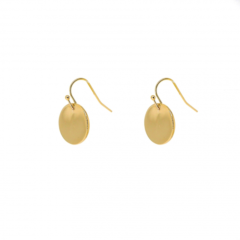 Smooth pastilles gold earrings - Pomme Cannelle