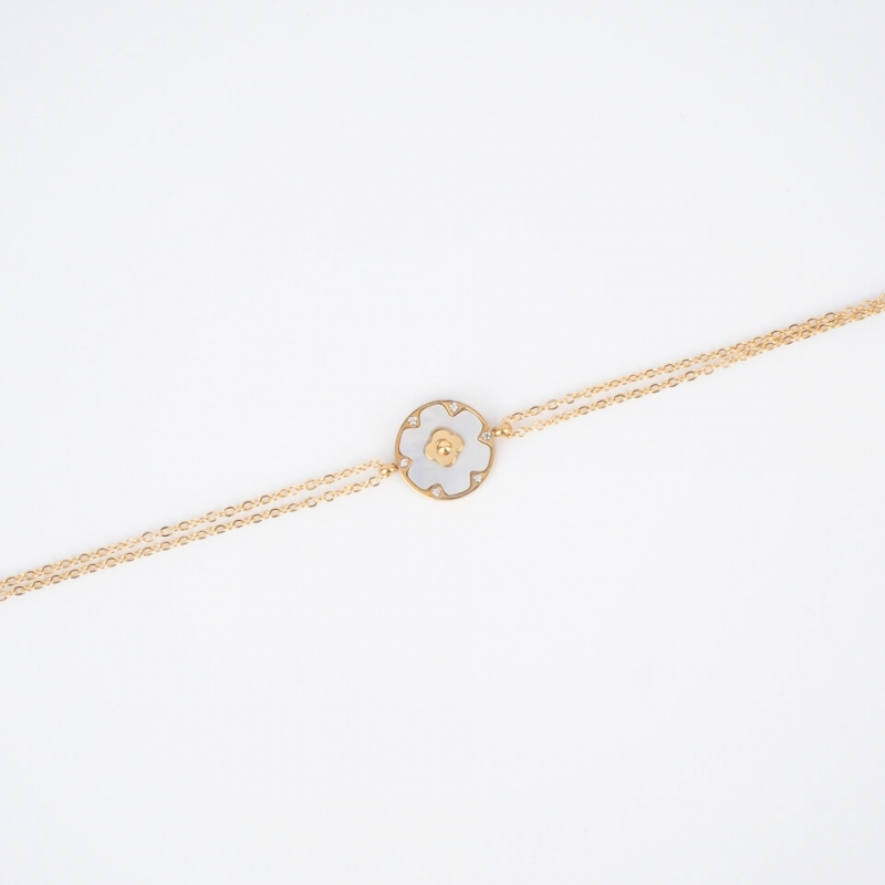 Bracelet Floria en acier or...