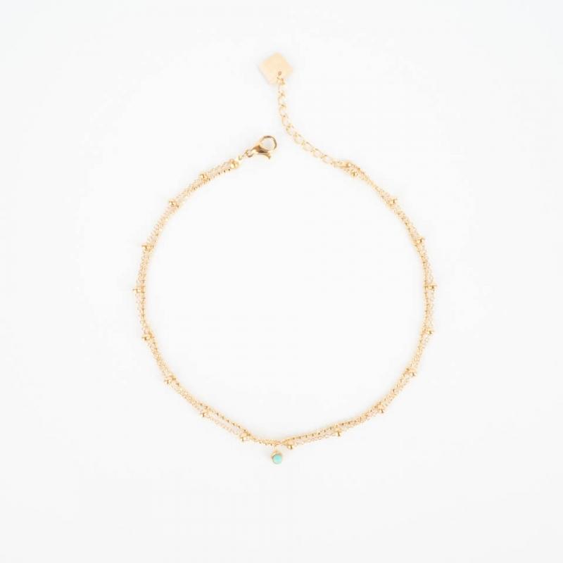 Nalia gold anklet chain -...