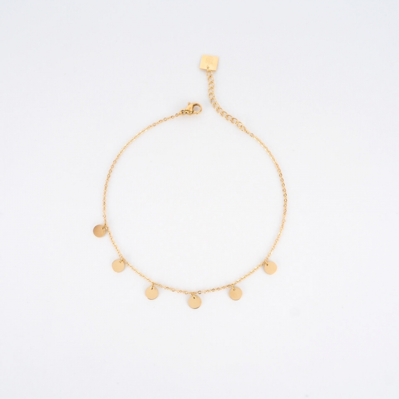 Helena gold anklet chain -...