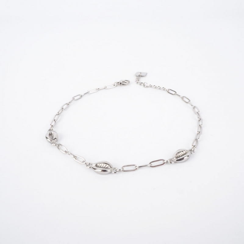 Sanae silver anklet chain -...