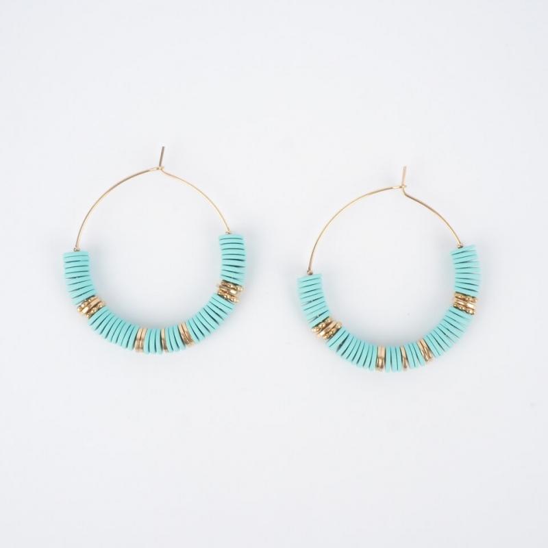 Vaiana gold hoop earrings -...
