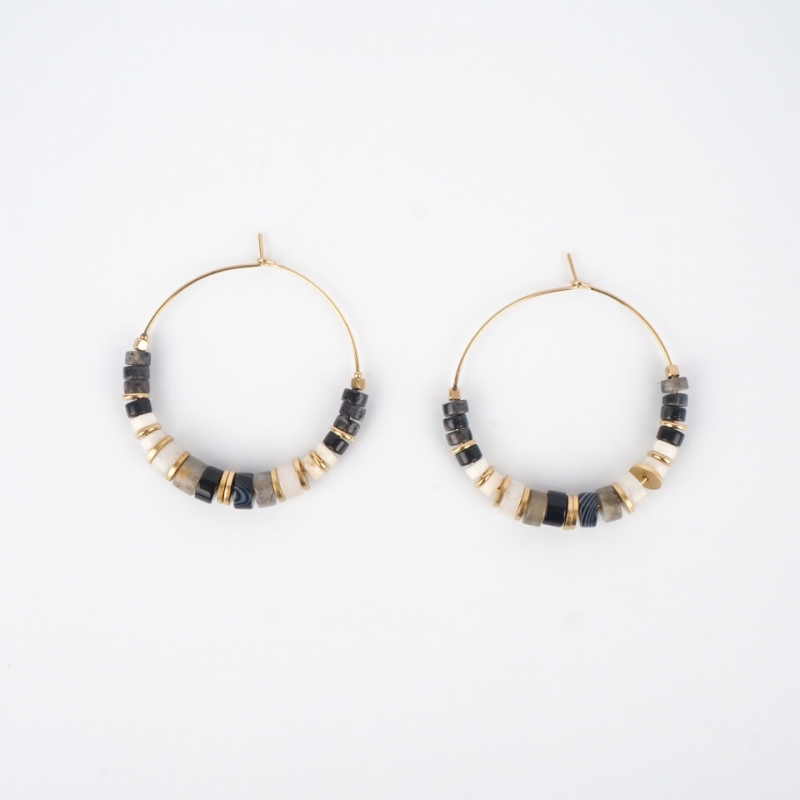 Kala gold hoop earrings -...