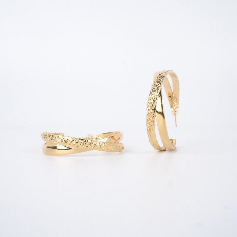 Lola gold hoop earrings -...